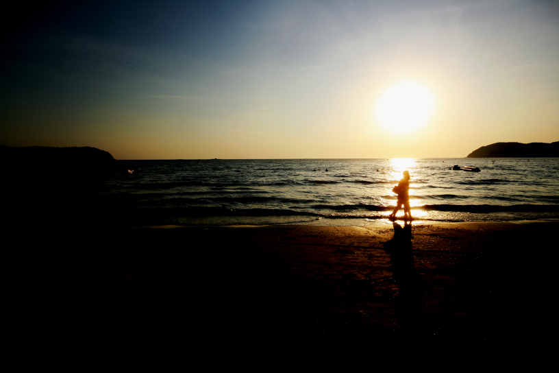 cenang beach sunset